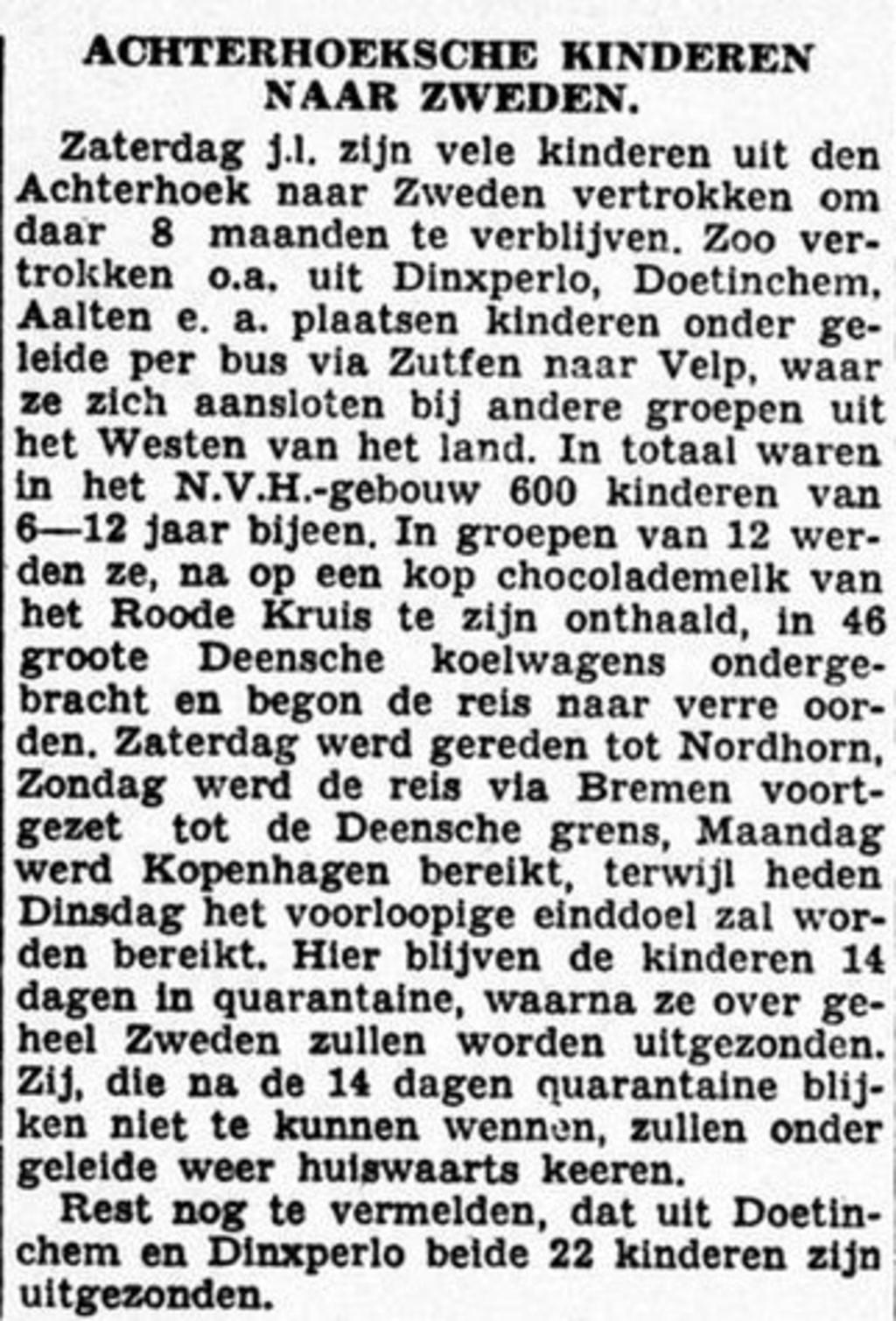 Graafschapbode, 25-09-1945.  © Achterhoek Nieuws b.v.