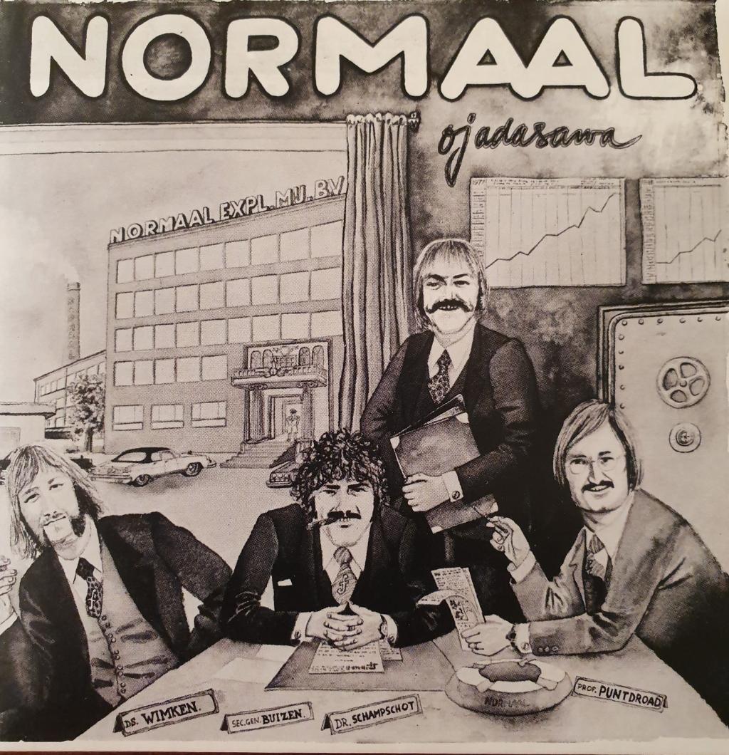 Ojadasawa? Nee hoor, er wordt nu echt gewerkt aan een nieuwe cd van Normaal in oude bezetting, met Tim Kelder voor wijlen Jan Manschot. Hier allen op de hoes van 'Ojadasawa' uit 1978.