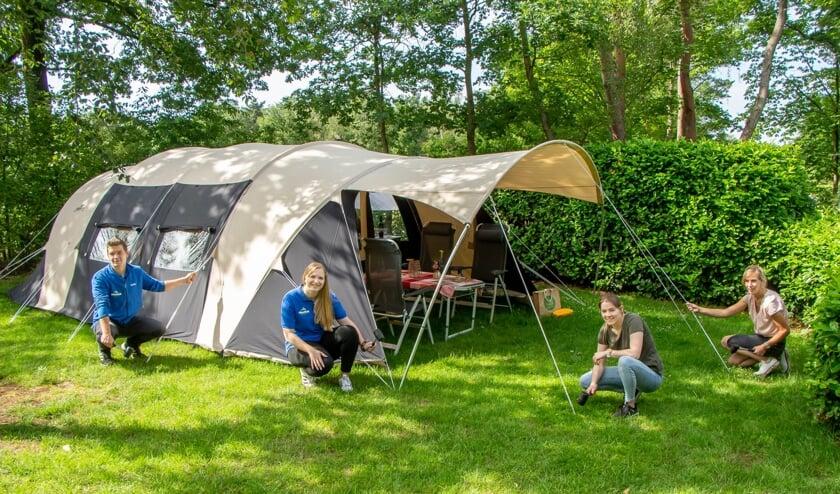 Bij het proefkamperen vinden de bezoekers een compleet ingerichte tent op een camping naar keuze. Foto: PR