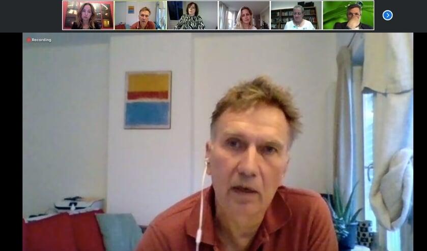 Joop Hofman was één van de gasten van de bijeenkomst. Foto: PR Koppelkerk