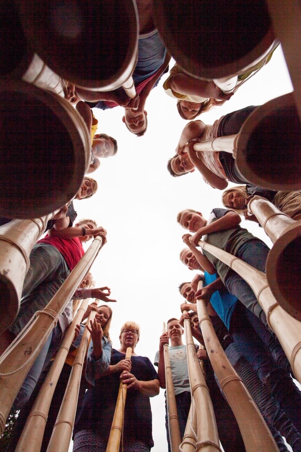 De midwinterhoorngroep van Het Assink. Foto: Geert van der Veer  © Achterhoek Nieuws b.v.