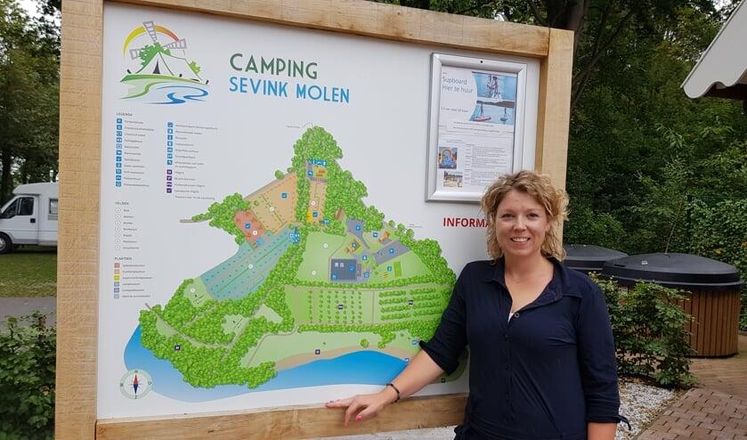 Lisanne Helder bij de receptie van Sevink Molen. Foto: Han van de Laar
