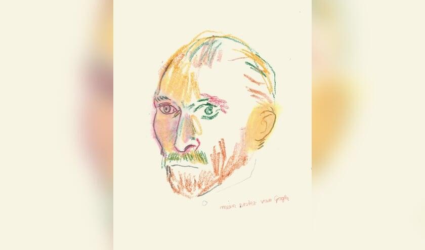Mein erster van Gogh - 2019, gemengde techniek op papier - Jorn. B. Budesheim. Foto: PR Koppelkerk