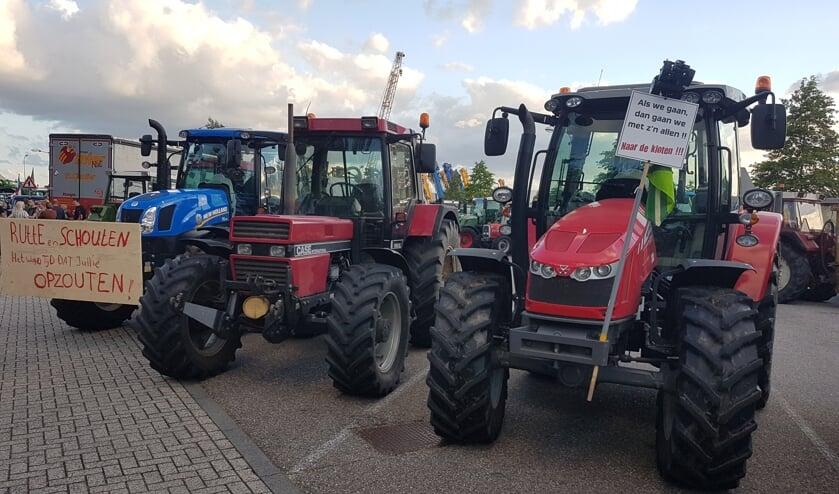 Boerenprotest op Laarberg in Groenlo. Foto: Mark Ebbers