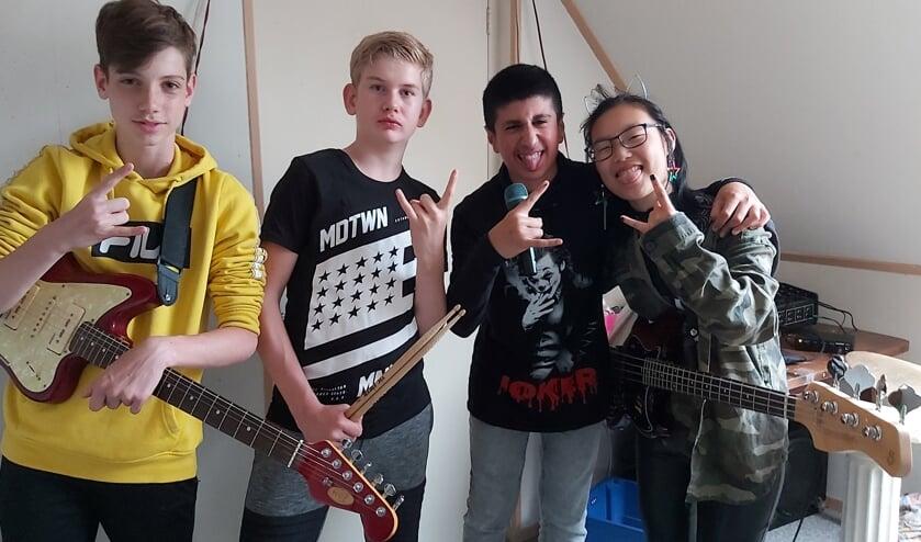 Geteizem, met van links naar rechts Bram, Stijn, Gabriel en Nuna. Foto: Waltraud Wensink