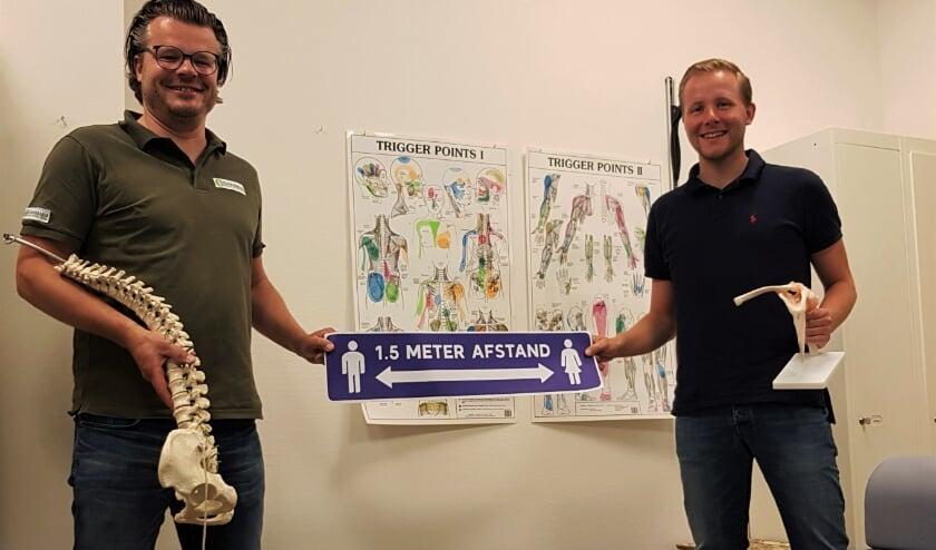Links Joris Jansen van den Berg en rechts Roy Dommerholt.