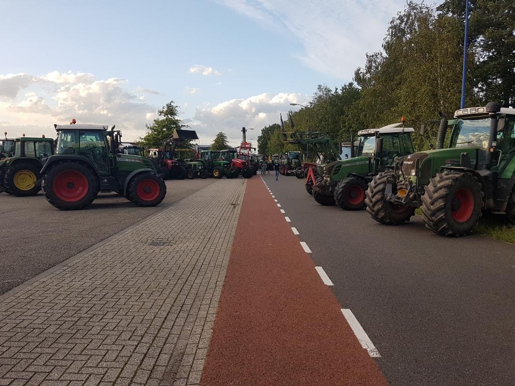 Boerenprotest op Laarberg in Groenlo. Foto: Mark Ebbers  © Achterhoek Nieuws b.v.