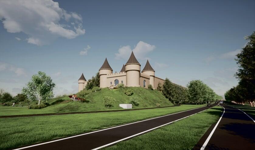 Een sfeerimpressie van BommelWereld gezien vanaf de N18. Afbeelding: Van der Heijden architecten
