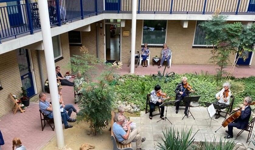 Euregio strijkkwartet speelt voor het eerst sinds 4 maanden weer voor publiek. Foto: PR