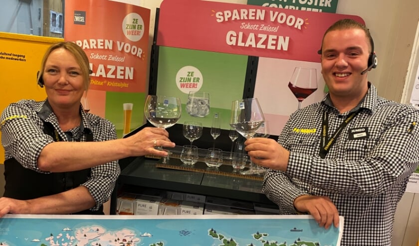 Voor de jeugd is er de spaaractie 'Reis rond de wereld'. Daarnaast loopt de spaaractie 'Schott Zwiesel glazen'. Foto: PR