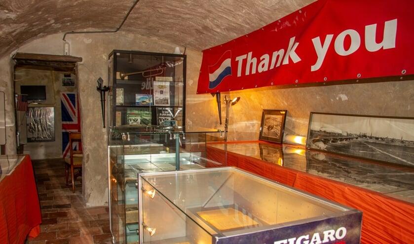 Tentoonstelling 75 jaar bevrijding in museumkelder Het Snoepje Ravenstraatje 3 in Zutphen. Foto: Liesbeth Spaansen