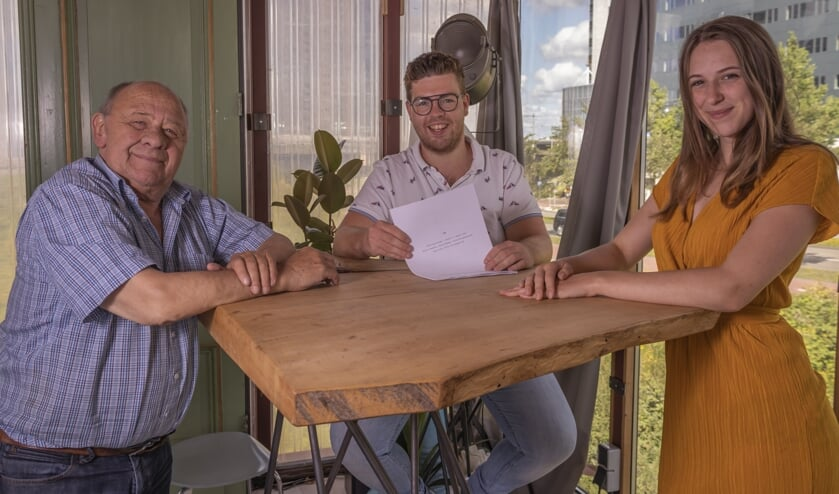 Frits Lambrechts, Jelle Kleinhesselink en Delphin Metsers voor de film Sam. Foto: Job Lugtigheid Fotografie