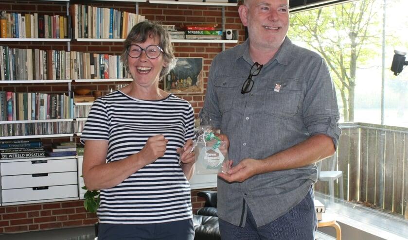 Eigenaren woning Paula Colenbrander en Tijs van Ruiten. Foto: Dinès Quist