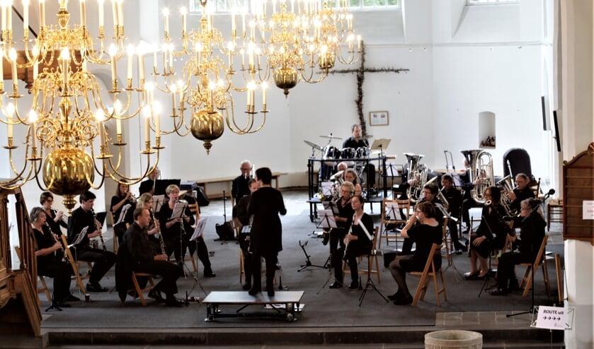 De harmonie van Muziekvereniging Nieuw Leven in Steenderen. Foto: Menno Leistra