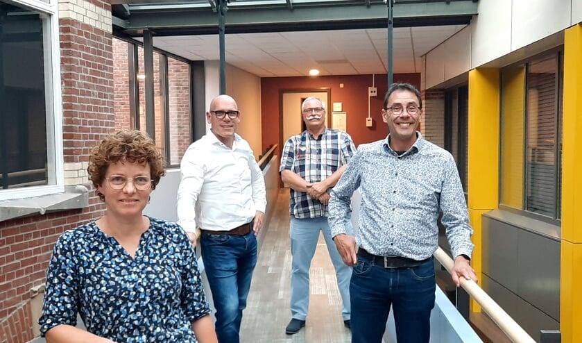<p>Het bestuur van SMOOG met vlnr Wendy Rouwhorst, Arjan Everink, Hans Zwijnepoel en Guido Reusen. Foto: Kyra Broshuis</p>