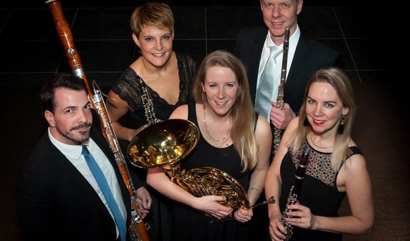 Het Amsterdam Wind Quintet. Foto: Jerry Knies