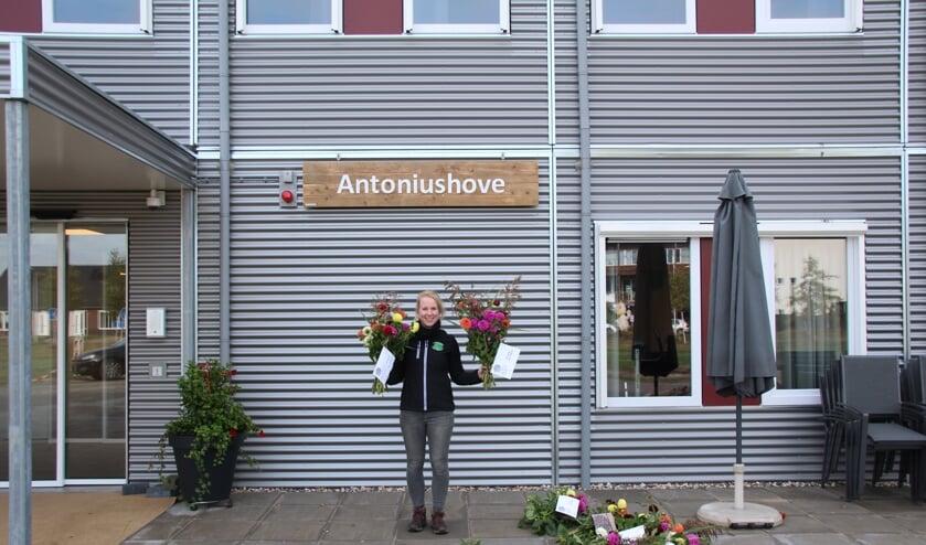 Een fleurig welkom voor de bewoners van de tijdelijke locatie van de Antoniushove. Foto: PR Veur Mekare?!