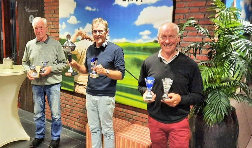 Van links naar rechts de winnaars Cor Migchielsen, Willy te Selle en Jos Penterman. Foto: PR
