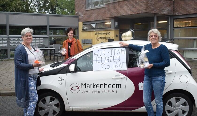 <p>Petra Menkveld, Anja Knol en Madelon Elizen zijn er vanaf het begin bij. Foto: Jeroen Garritsen</p>
