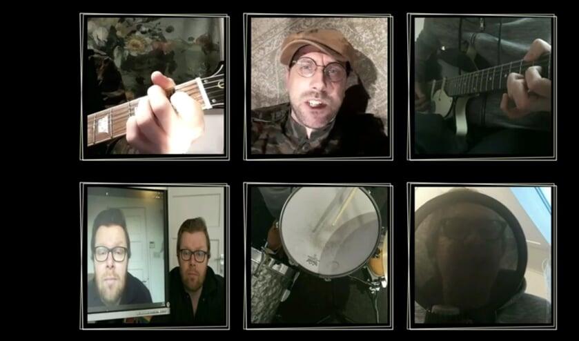 <p>Screenshot uit een videoclip van Four Eyed Faces</p>