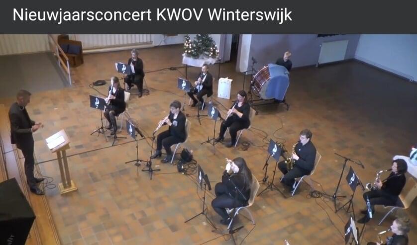 KWOV heeft een alternatief nieuwjaarsconcert gegeven,. Foto: PR