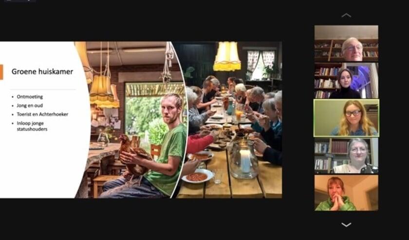 <p>Screenshot van de digitale meet up in de Koppelkerk. Foto: PR</p>