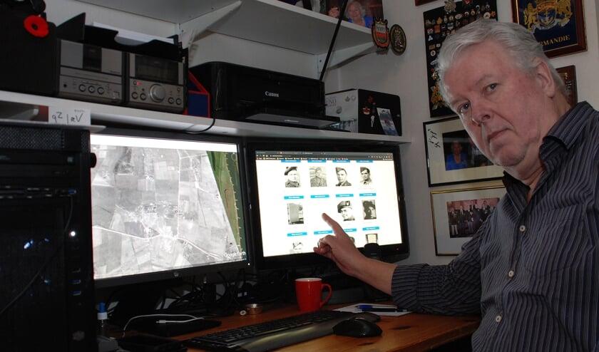 <p>Harm Kuijper en zijn website met oorlogshelden uit de Tweede Wereldoorlog.</p>