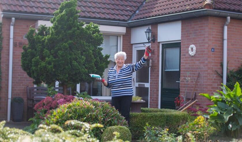 Een van de bewoners die een pluim ontving. Foto: PR