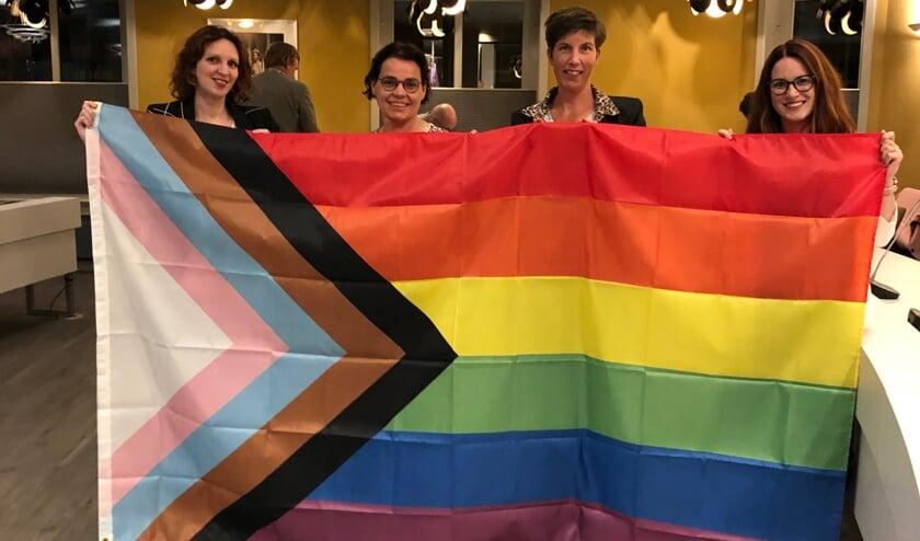 <p>De progress vlag wordt ook in Aalten gehesen. Foto: PR</p>