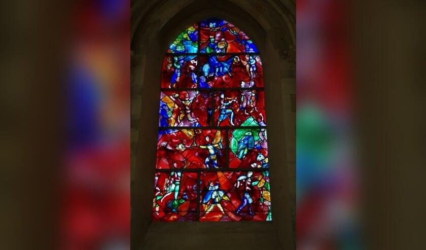 Glas-in-lood raam van Chagall. Foto: pixabay