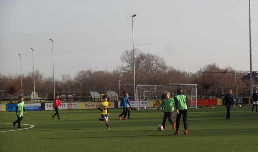 <p>Met veel enthousiasme spelen de jeugdleden van VV Ruurlo momenteel een onderling mix toernooi op sportpark &lsquo;t Rikkelder. Foto: Jan Hendriksen</p>