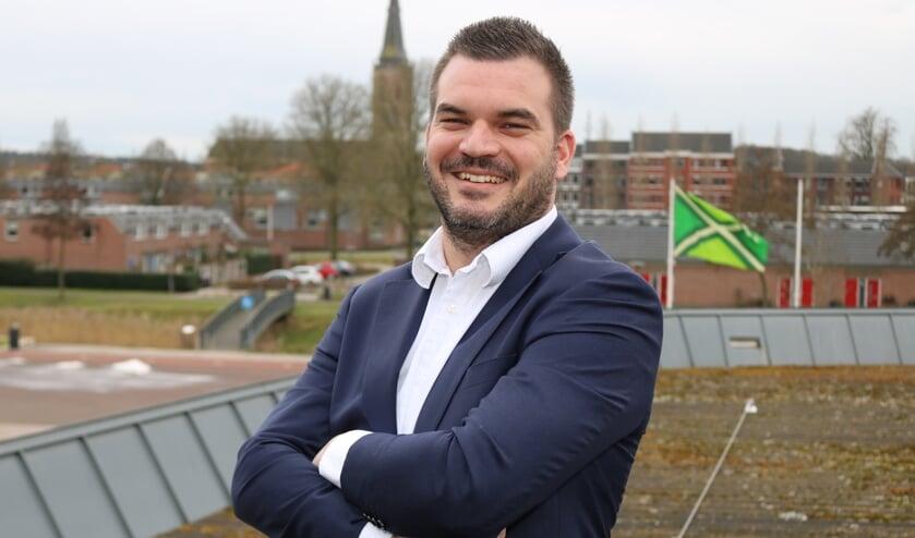 Robert Bosch (28) is door GB voorgedragen als nieuwe wethouder voor de gemeente Lochem. Foto: Arjen Dieperink
