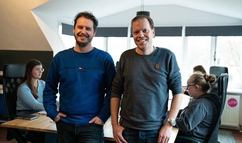 <p>Patrick van den Brink en Maarten van Kranenburg van Lutim. Foto: Nina Koelink</p>