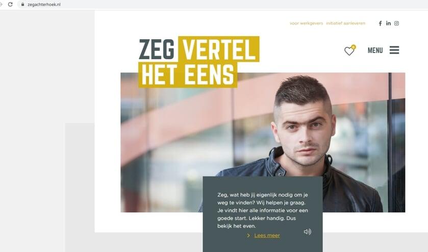 Zo ziet de homepage van ZEG Achterhoek eruit. Afbeelding: Achterhoek Nieuws