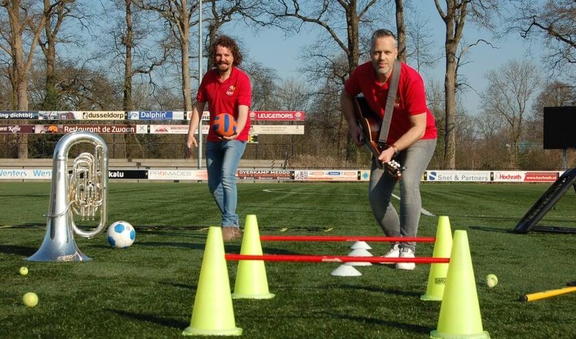 Jos Mekkes en Hans Roerdinkholder bereiden zich voor op ActiefXXL. Foto: Verona Westera