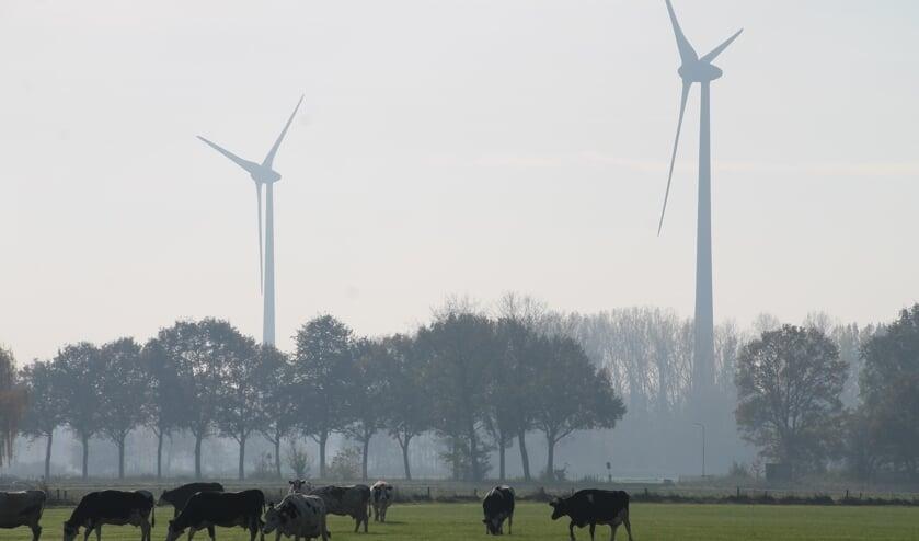 <p>Een aantal molens van park Hagewind. De gemeente Aalten wil de molens vervangen door molens die dubbel zo hoog zijn. Foto: Annek&eacute;e Cuppers/archief Achterhoek Nieuws</p>