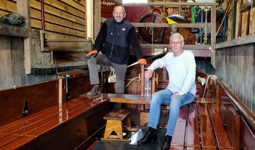 Ben Banning en Bert Dijkhuizen op De Snippe. Foto: Rob Stevens