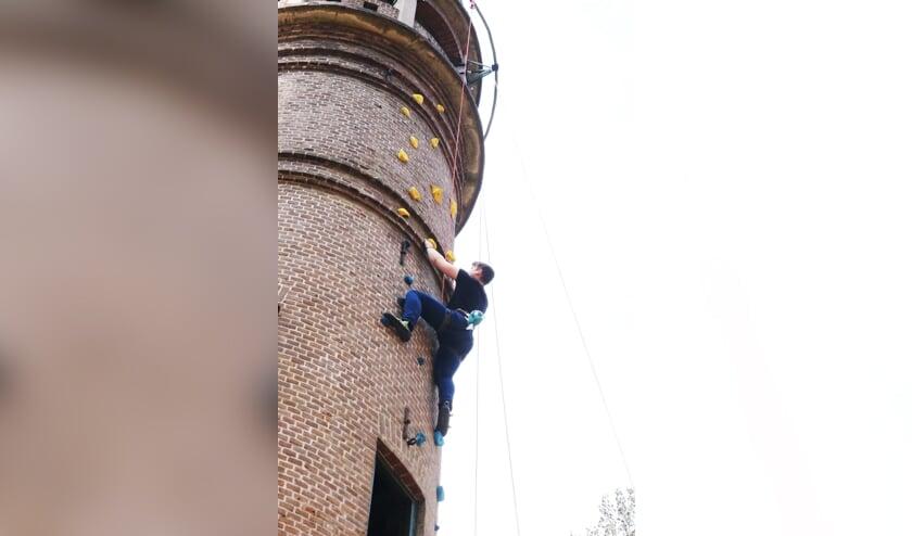 <p>Dani&euml;l Heck klimt gestaag door. Foto: Arjen Dieperink</p>