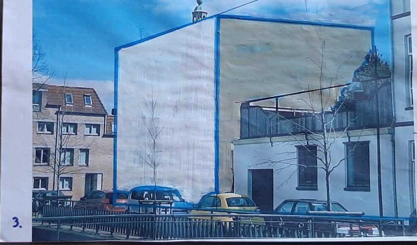 <p>Stedenbouwkundige afbeelding van de nieuwbouw en het effect daarvan op de omgeving.&nbsp;</p>
