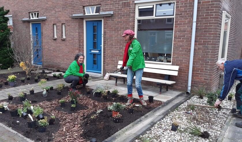 <p>Groepen vrijwilligers helpen bij het duurzaam beplanten van tuinen van kwetsbare mensen. Foto: Present Bronckhorst</p>