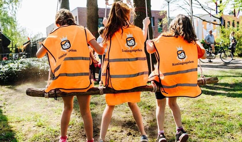 Lekker buiten bewegen tijdens de Koningsspelen. Foto: Bibi Veth