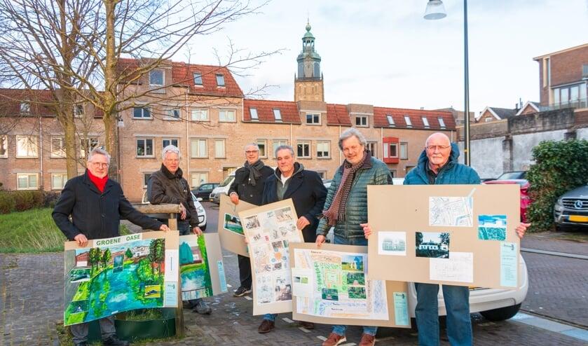Cees Hoogstad, Just de Wijs, Silvester van Veldhoven, Hein Reitsma, Hans Beekman en Willem Wanrooij. Foto: Henk Derksen