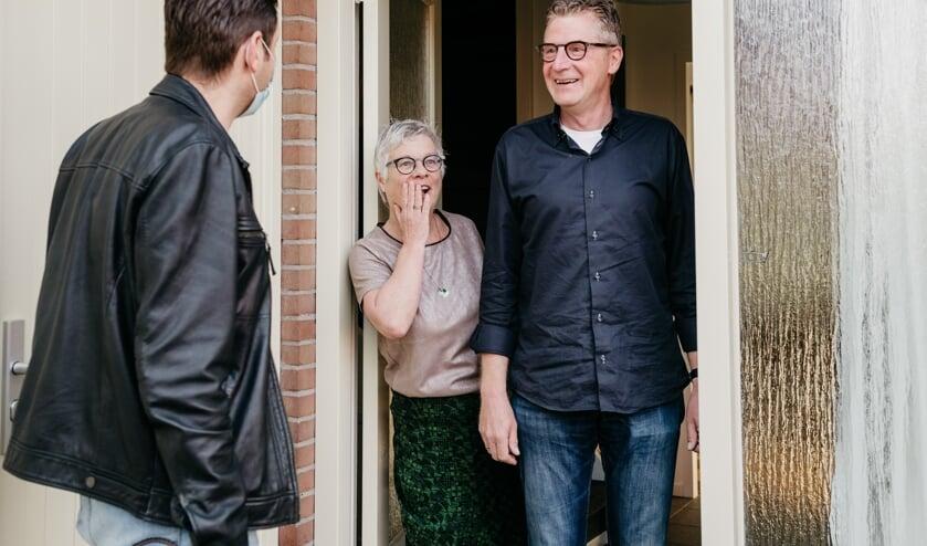 Een verraste blik bij het echtpaar Heusinkveld. Foto: eigen foto