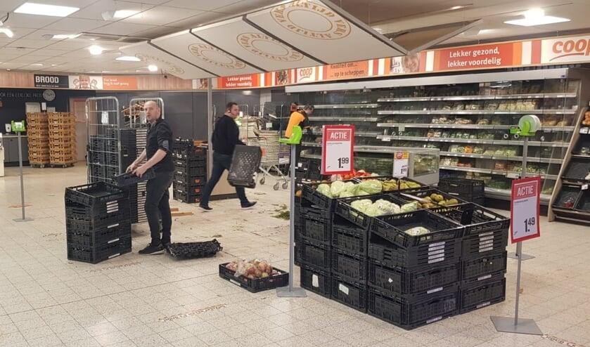 <p>Inmiddels is de brood- en groenteafdeling voor de laatste week verplaatst. Foto: PR</p>