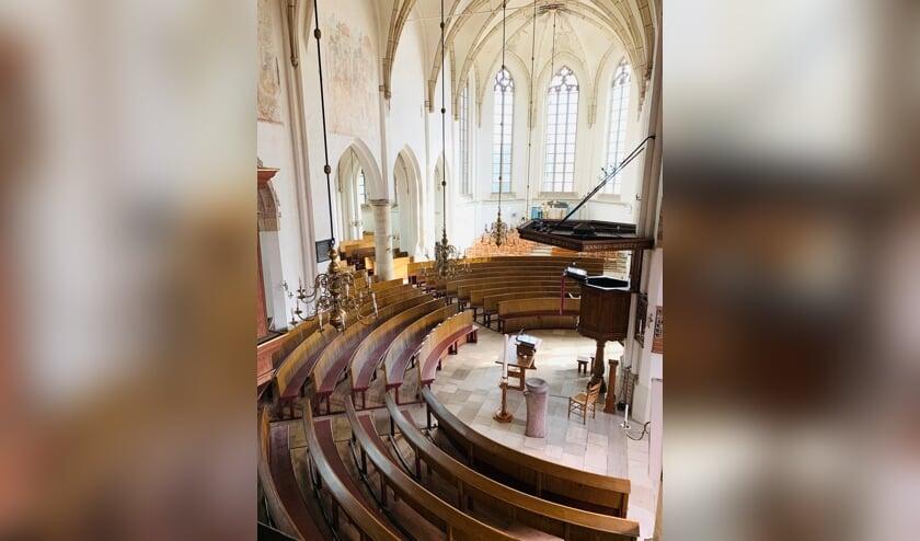 Het interieur van de Oude Helenakerk in Aalten is heel bijzonder. Foto: PR