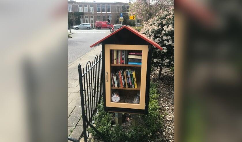 <p>Een kastje met boeken: de nieuwe minibieb langs de Weg naar Laren. Foto: PR</p>