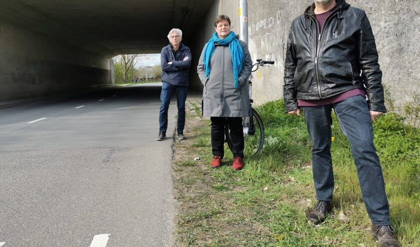 <p>Leden van de werkgroep voor de tunnel. Foto: PR</p>