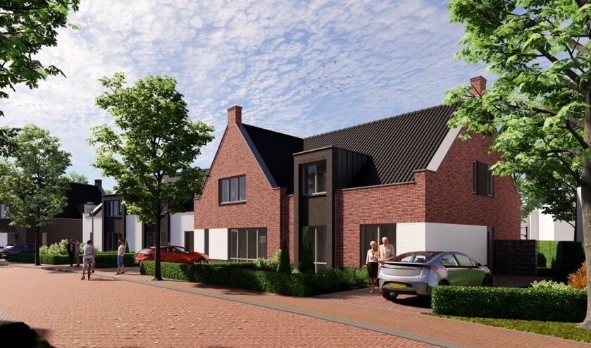 <p>Een artist impression van de semi-bungalows. Bron: IKB architecten&nbsp;</p>