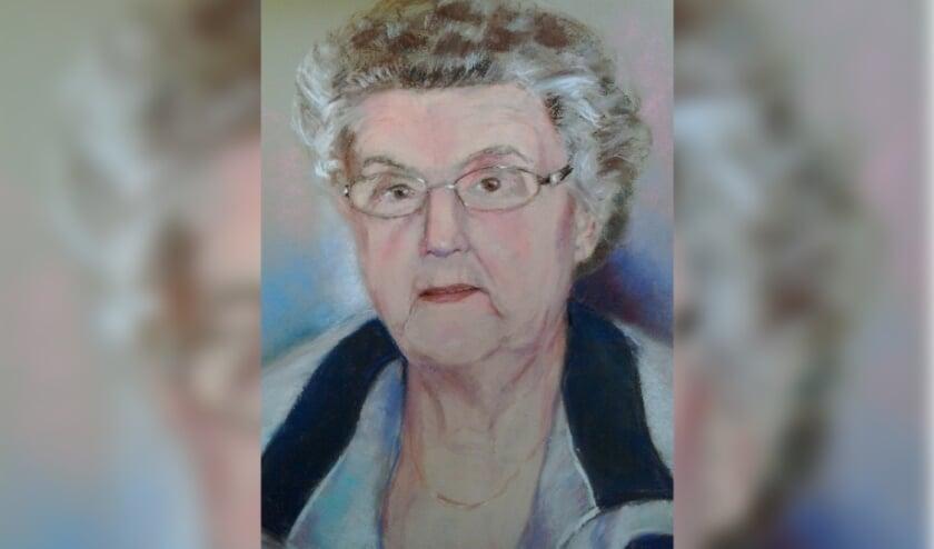 <p>Gonny Wiecherink maakte een treffend portret van haar schoonmoeder, die op De Bleijke woont. Foto: Gonny Wiecherink</p>