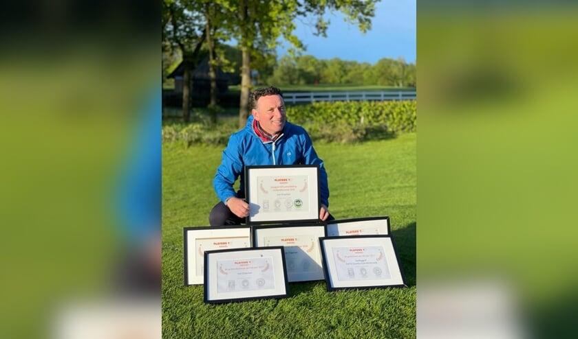 Lee Chapman voor de vierde keer beste golfprofessional. Foto: PR